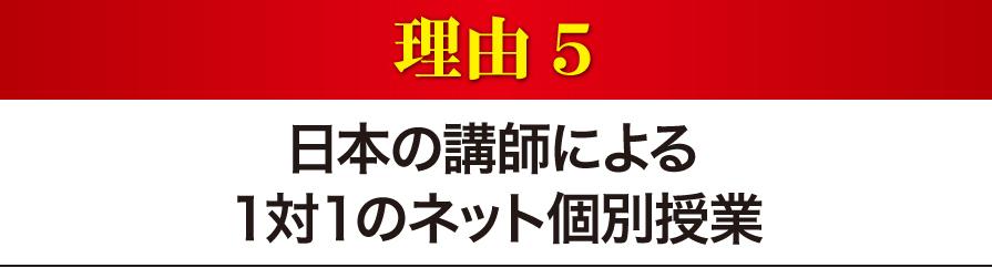 日本の講師による1対1のネット個別授業